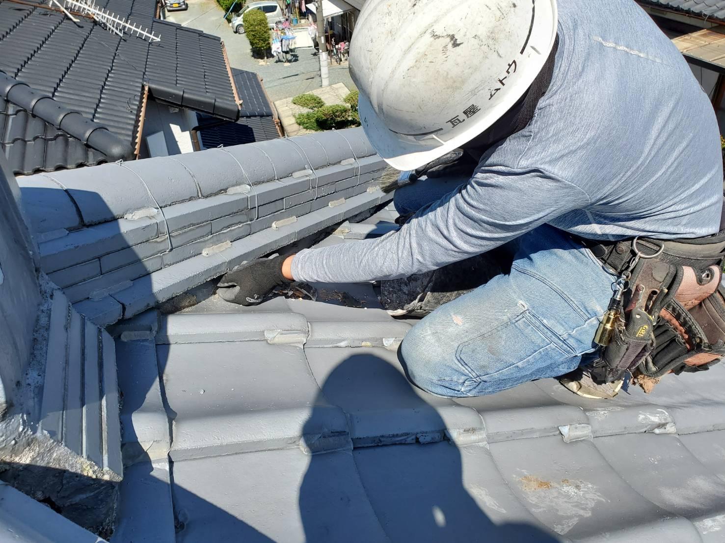 外壁塗装 佐賀 屋根 瓦屋根 補修 漆喰 下地処理