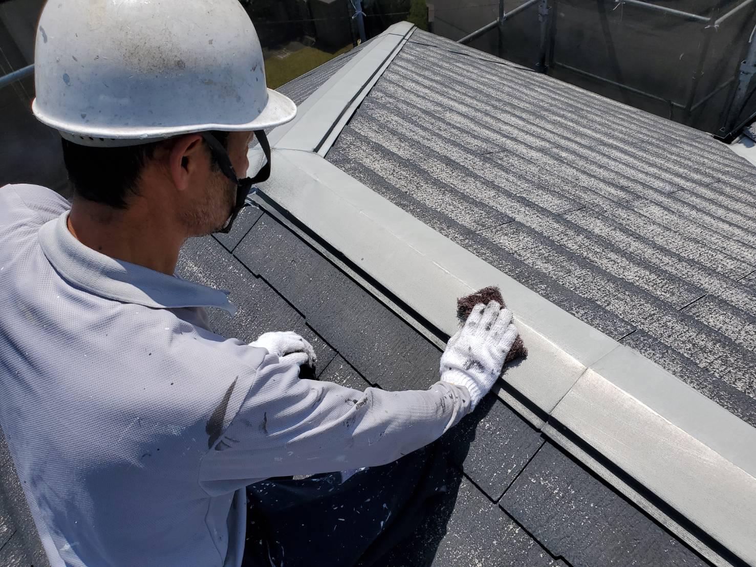 外壁塗装 佐賀 スレート屋根 コロニアル屋根 下地処理
