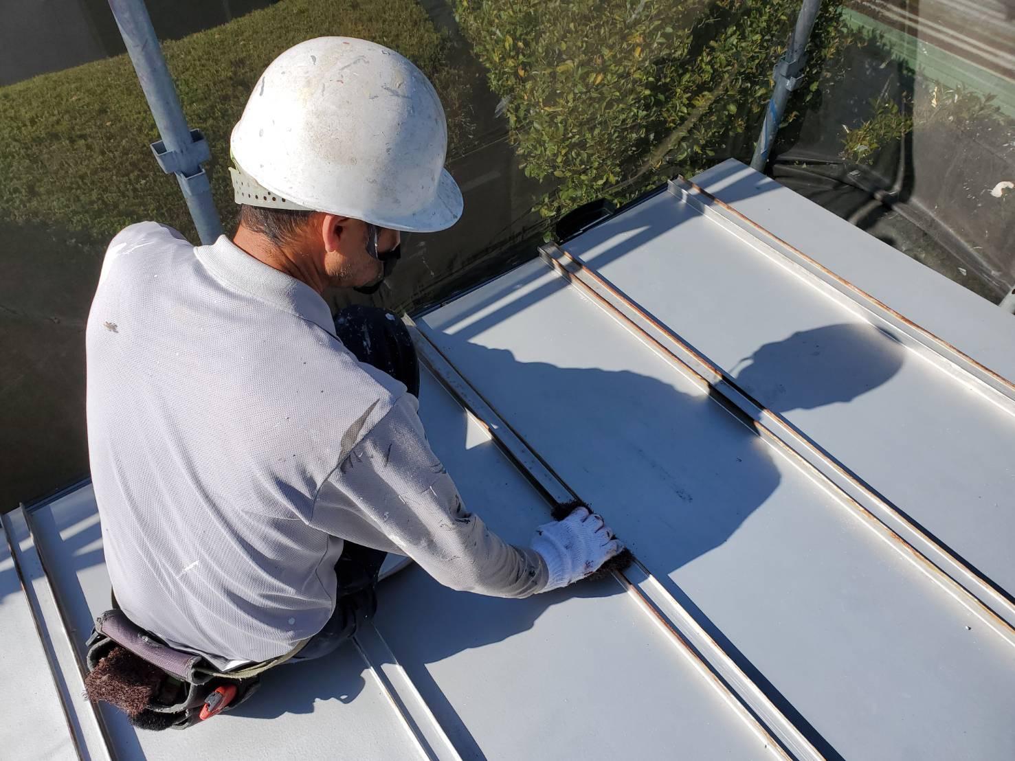 外壁塗装 佐賀 屋根 トタン屋根 下地処理