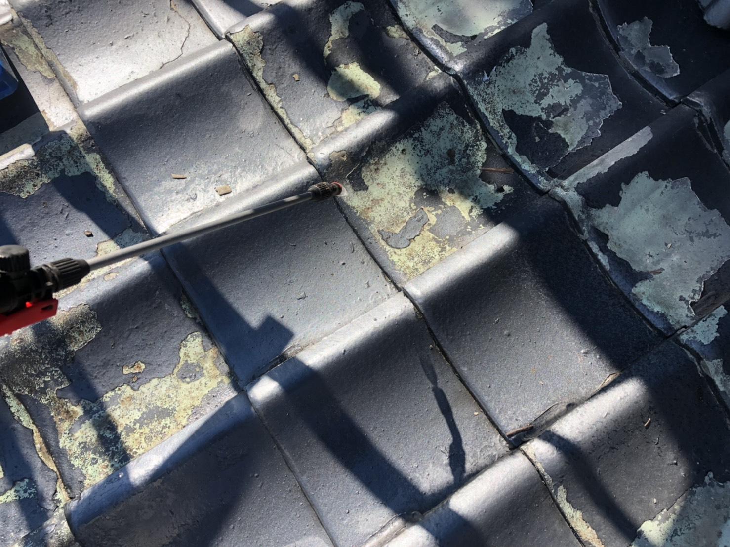 屋根塗装 瓦 高圧洗浄