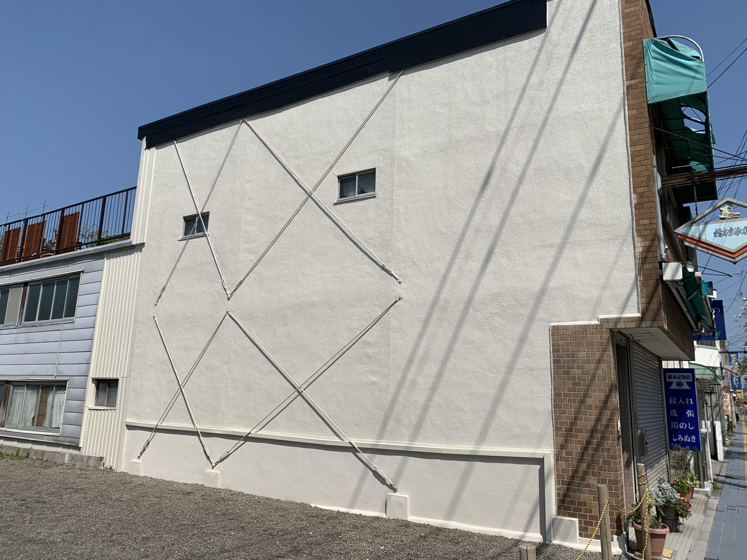 外壁塗装 佐賀 外壁 モルタル壁 板金部塗装