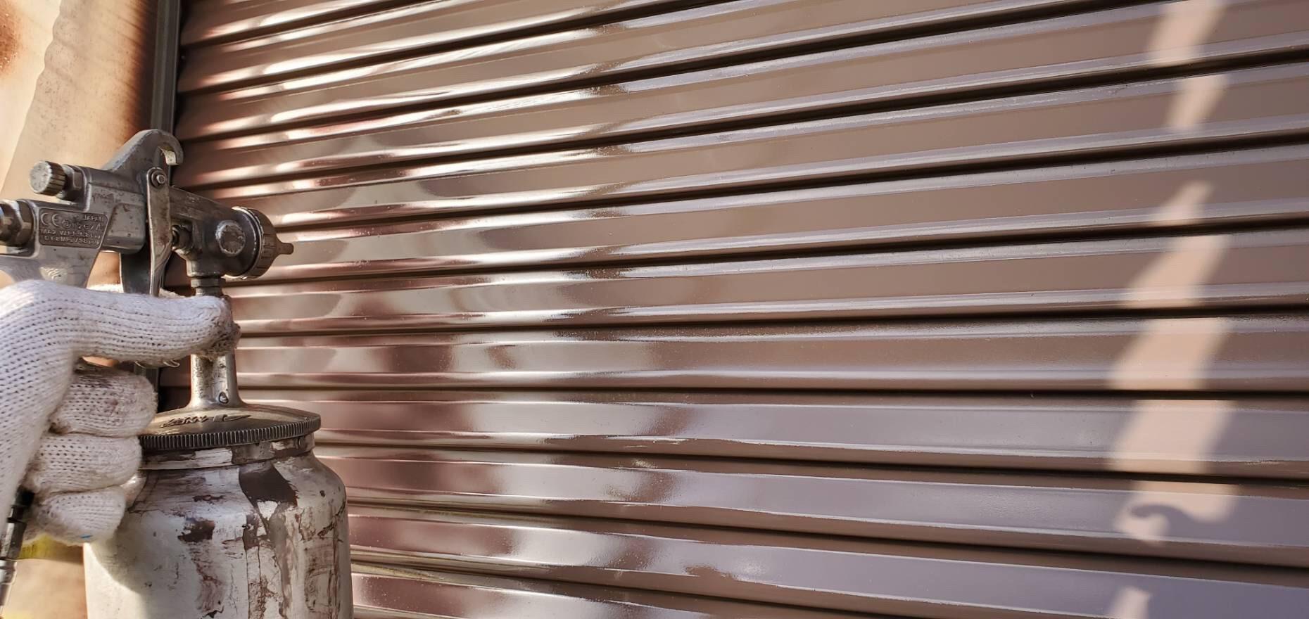 外壁塗装 佐賀 雨戸 上塗り