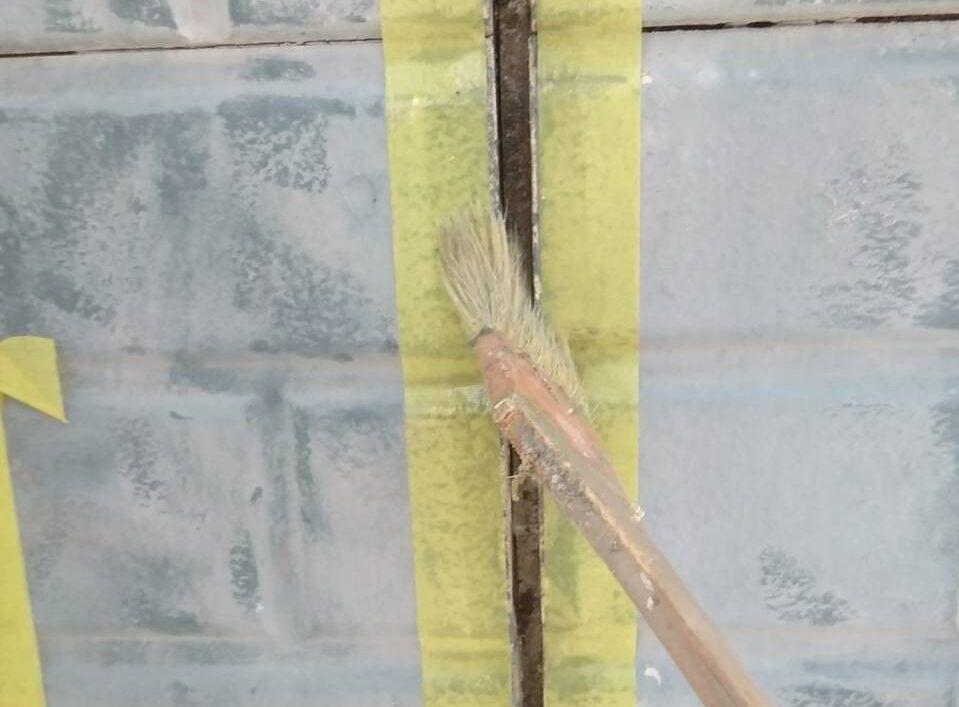 佐賀市 サニー建設商事 サニケン さにけん 塗るばい コーキング コーキングプラーマー塗り